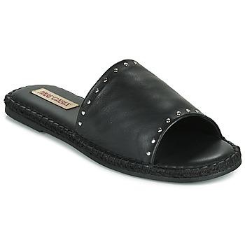 Schoenen Dames Leren slippers Pare Gabia ROPLINE Zwart