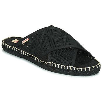Schoenen Dames Leren slippers Pare Gabia VP BANDEAU Zwart