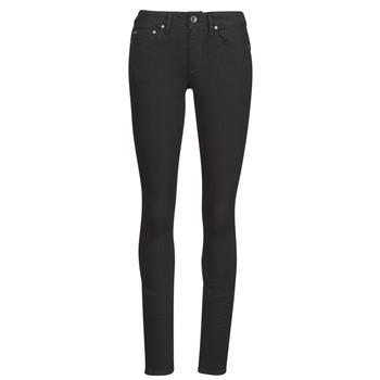 Textiel Dames Skinny Jeans G-Star Raw Midge Zip Mid Skinny Wmn Pitch / Zwart