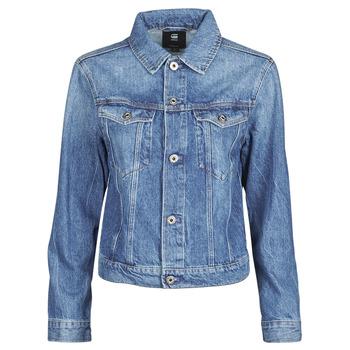 Textiel Dames Spijker jassen G-Star Raw 3301 Straight Dnm Jkt Wmn Faded / Shore