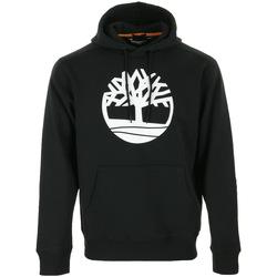 Textiel Heren Sweaters / Sweatshirts Timberland Core Tree Logo Pull Over Hoodie Zwart