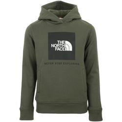 Textiel Kinderen Sweaters / Sweatshirts The North Face New Box Hoodie Kids Groen