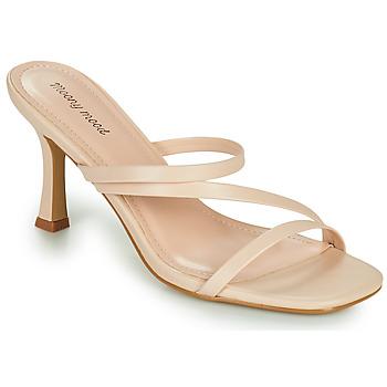 Schoenen Dames Leren slippers Moony Mood OBIUTI Nude