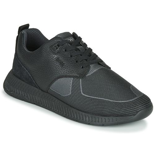 Schoenen Heren Lage sneakers BOSS TITANIUM RUNN TBJQ Zwart