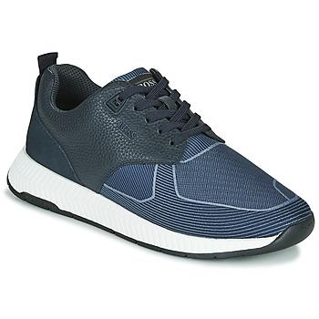 Schoenen Heren Lage sneakers BOSS Titanium_Runn_tbjq 10232903 Blauw