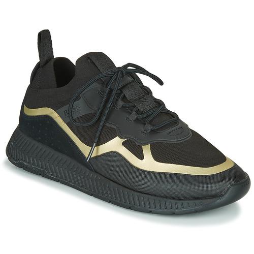Schoenen Heren Lage sneakers BOSS TITANIUM RUNN KNTH Zwart / Goud