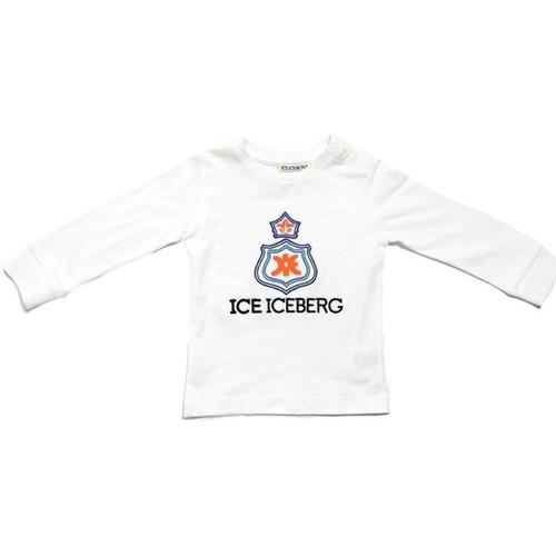 Textiel Jongens T-shirts met lange mouwen Iceberg TSICE0316B Bianco