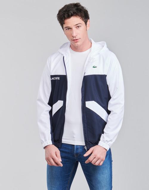 Textiel Heren Wind jackets Lacoste SHANNA Marine / Wit