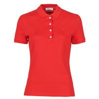 Textiel Dames Polo's korte mouwen Lacoste POLO SLIM FIT Rood