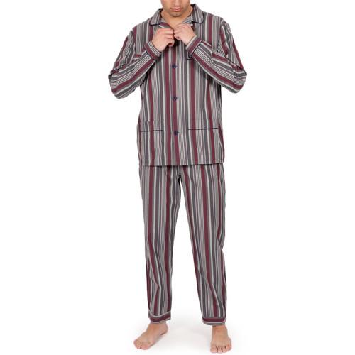 Textiel Heren Pyjama's / nachthemden Admas For Men Homewear pyjamabroek Garnet Stripes grijs Admas Lichtgrijs