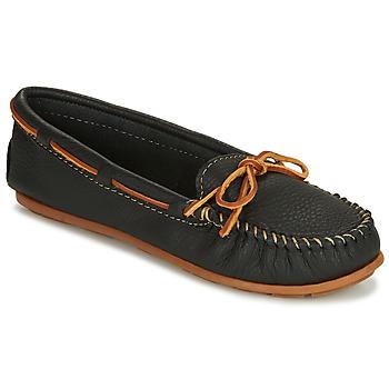Schoenen Dames Mocassins Minnetonka BOAT MOC Zwart