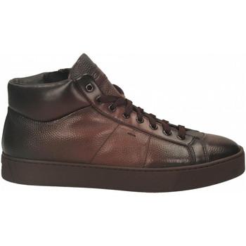 Schoenen Heren Hoge sneakers Santoni POLAC.8OCC. ZIP BASKET cioccolato