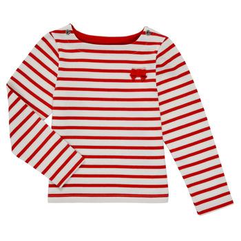Textiel Meisjes T-shirts met lange mouwen Petit Bateau MAHALIA Multicolour