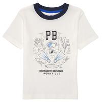Textiel Jongens T-shirts korte mouwen Petit Bateau MARCO Wit