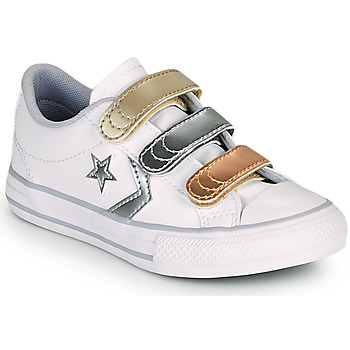 Schoenen Meisjes Lage sneakers Converse STAR PLAYER 3V METALLIC LEATHER OX Wit