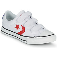 Schoenen Jongens Lage sneakers Converse STAR PLAYER 3V VARSITY CANVAS OX Wit / Rood
