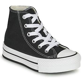 Schoenen Meisjes Hoge sneakers Converse CHUCK TAYLOR ALL STAR EVA LIFT CANVAS COLOR HI Zwart
