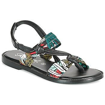 Schoenen Dames Sandalen / Open schoenen Kaporal EVALOU Zwart / Multicolour