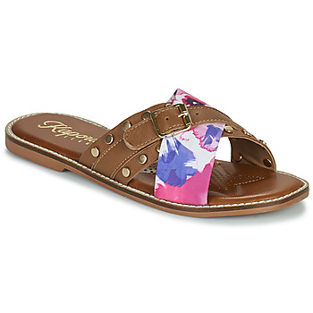 Schoenen Dames Leren slippers Kaporal EMILI Bruin / Multicolour