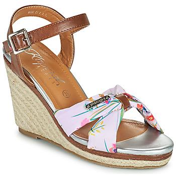 Schoenen Dames Sandalen / Open schoenen Kaporal MAKITA Bruin / Wit