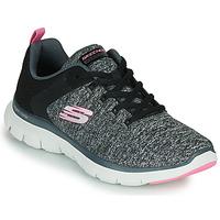 Schoenen Dames Fitness Skechers FLEX APPEAL 4.0 Grijs / Roze