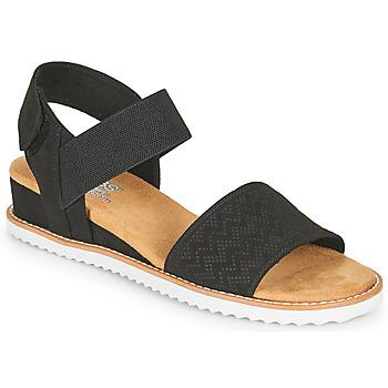 Schoenen Dames Sandalen / Open schoenen Skechers DESERT KISS Zwart