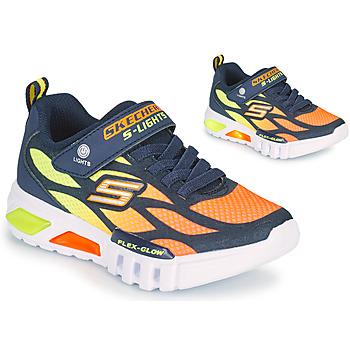 Schoenen Jongens Lage sneakers Skechers FLEX-GLOW Marine / Oranje