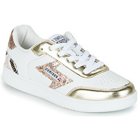 Schoenen Dames Lage sneakers Le Temps des Cerises FLASH Wit / Goud