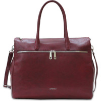 Tassen Dames Computertassen Gigi Fratelli Leren Laptoptas 17 inch Romance Business ROM8007 Rubino Rood