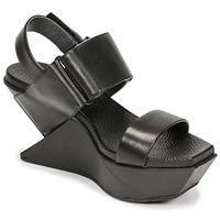 Schoenen Dames Sandalen / Open schoenen United nude DELTA WEDGE Zwart