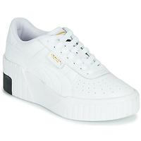 Schoenen Dames Lage sneakers Puma CALI WEDGE Wit / Zwart