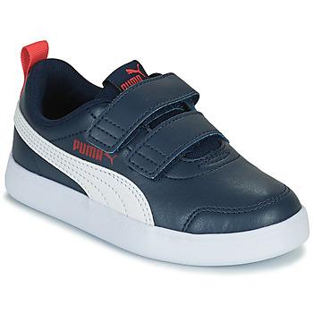 Schoenen Kinderen Lage sneakers Puma COURTFLEX PS Zwart