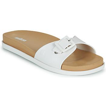 Schoenen Dames Leren slippers Melissa WIDE SLIDE AD Wit