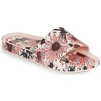 Schoenen Dames Leren slippers Melissa BEACH SLIDE PRINT AD Roze