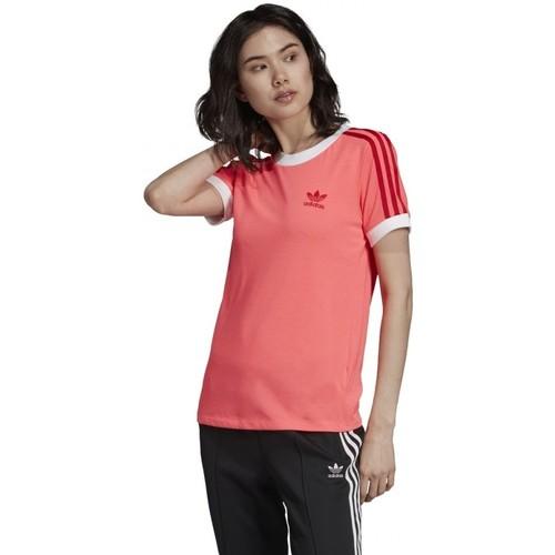 Textiel Dames T-shirts korte mouwen adidas Originals  Roze