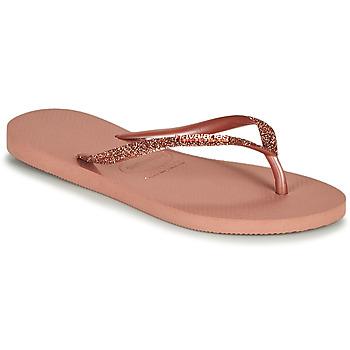 Schoenen Dames Teenslippers Havaianas SLIM GLITTER II Roze