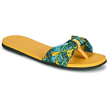 Schoenen Dames Teenslippers Havaianas YOU SAINT TROPEZ Geel / Goud