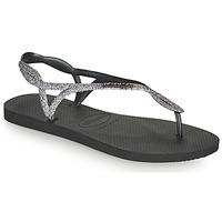 Schoenen Dames Teenslippers Havaianas LUNA PREMIUM II Zwart / Grijs