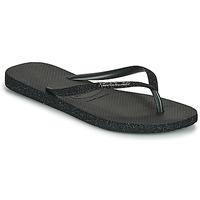 Schoenen Dames Teenslippers Havaianas SLIM SPARKLE II Zwart