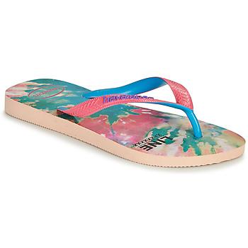 Schoenen Dames Teenslippers Havaianas TOP FASHION Roze