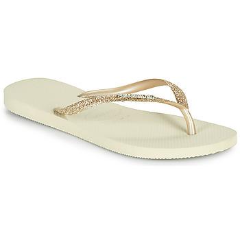 Schoenen Dames Teenslippers Havaianas SLIM GLITTER II Beige