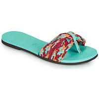 Schoenen Dames Teenslippers Havaianas YOU ST TROPEZ MESH Blauw