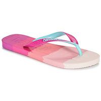 Schoenen Dames Teenslippers Havaianas TOP LOGOMANIA MULTICOLOR Roze