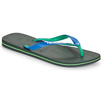 Schoenen Heren Teenslippers Havaianas BRASIL MIX Zwart / Blauw