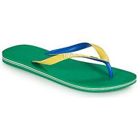 Schoenen Heren Teenslippers Havaianas BRASIL MIX Groen
