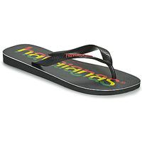 Schoenen Heren Teenslippers Havaianas TOP LOGOMANIA Zwart
