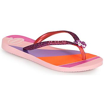 Schoenen Meisjes Teenslippers Havaianas KIDS SLIM GLITTER II Roze