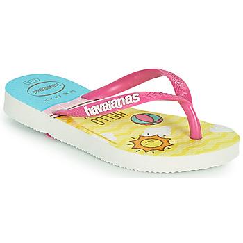 Schoenen Meisjes Teenslippers Havaianas KIDS SLIM HELLO KITTY Wit