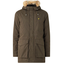 Textiel Heren Parka jassen Lyle & Scott Winter Weight Microfleece Lined Parka Groen