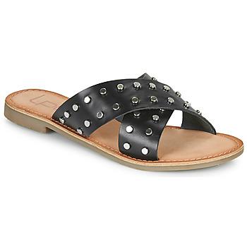 Schoenen Dames Leren slippers Les Petites Bombes BELMA Zwart